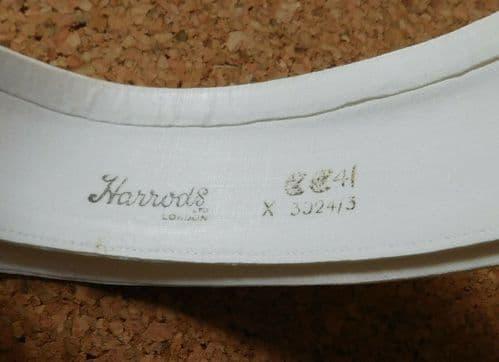 CC41 Harrods collar detachable size 15.25 war time 1940s utility clothing 15 1/4